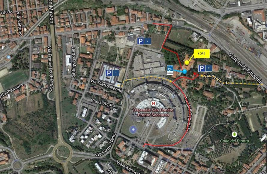 Mappa Centro Ausili Arezzo